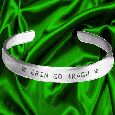 Handmade /& Polished Bracelet Erin Go Bragh :