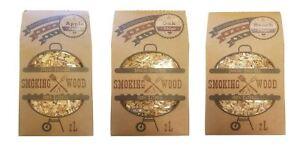 EcoWoodBBQ BBQ Smoking Wood Chips Food Smoking Apple Beech Oak 100% Natural Wood