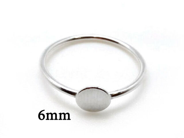 2pcs Sterling Silver 925 Top Round Pad Ring, JBB Findings, Jewelry base, Blank