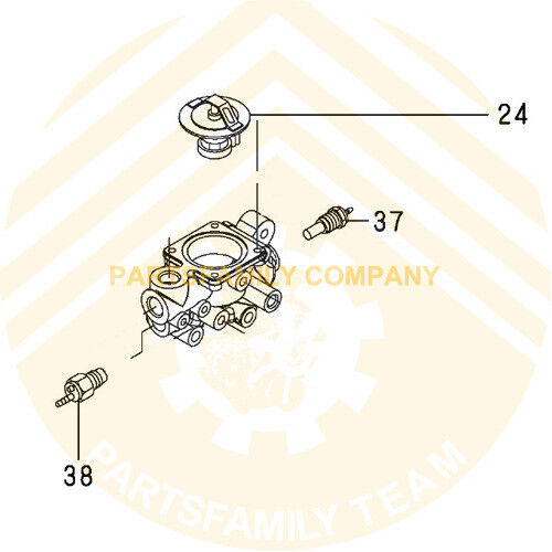 Water Temperature Sensor//Gage for Komatsu 4D94E 4D94LE 4TNV98 Forklift Excavator