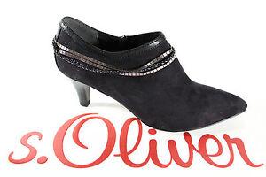 S-Oliver-Zapatillas-Mujer-Negro-Suela-de-Goma-Suela-Interior-de-Cuero-Nuevo