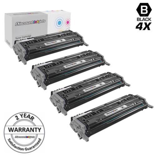 4pK BLACK Toner Cartridge for HP Q6000A 124A 1600 2600n 2605dn CM1015mfp