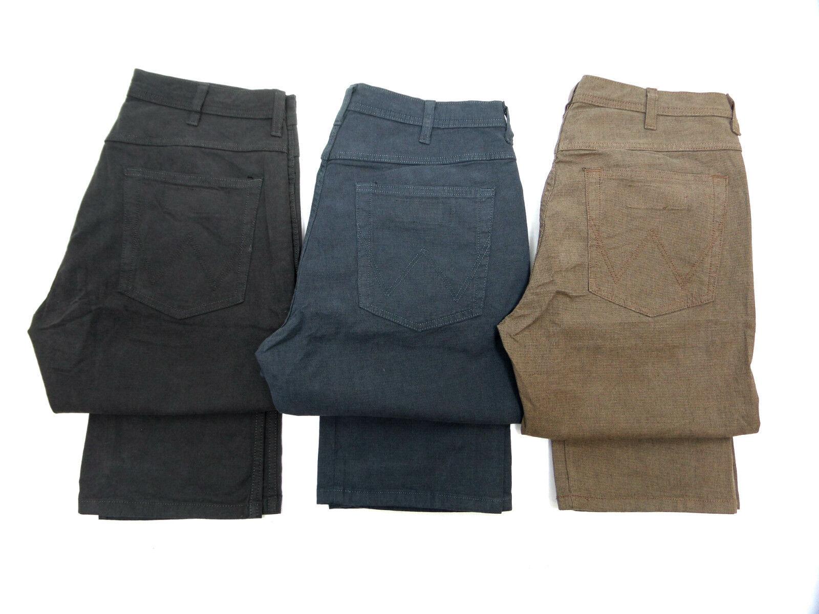 MENS Ex Wrangler Arizona Stretch Linen Trousers   SECONDS WA27