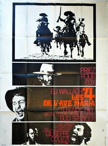 Plakat-Kino-Western-Les-4-De-L-039-Ave-Maria-120-X-160-CM-Spencer-Hill-Wallach