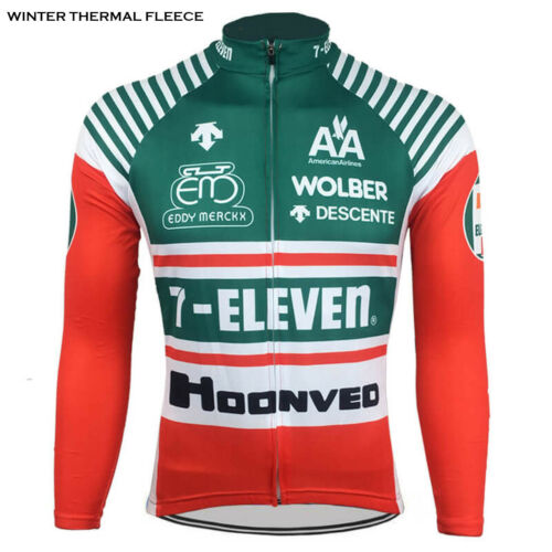 7-Eleven Descente Retro Cycling Jersey Long Sleeve