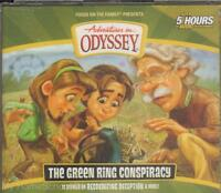 Adventures In Odyssey Green Ring Conspiracy 53 4 Cd Audio Set Christian Kids