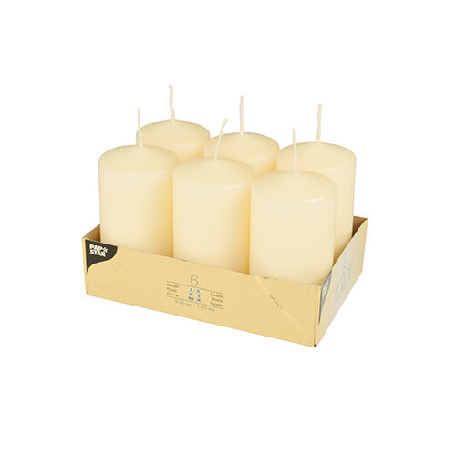24 crème cigare bougies ø 60 mm 115 mm stumpe bloc Bougie Candle