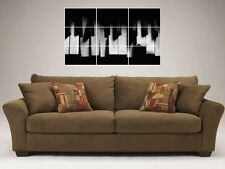 "BROKEN Pianoforte Tasti 35 ""x25"" MOSAIC TILE muro poster TASTIERA MUSICA"