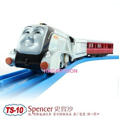TOMY TRACKMASTER THOMAS&FRIENDS TS-10 SPENCER WITH 2 TRUCKS MOTORIZED TRAIN
