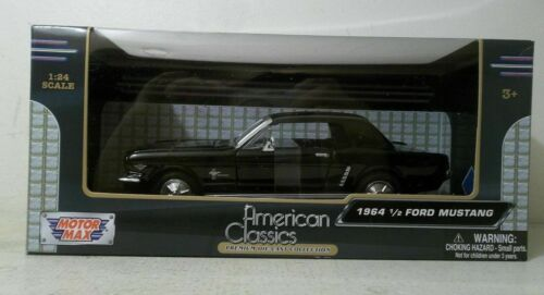 MOTOR MAX 1//24 SCALE AMERICAN CLASSICS 1964 1//2 FORD MUSTANG BLACK NIB