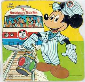 Mickey Mouse Club 1977 Book The Mouseketeers Train Ride Walt