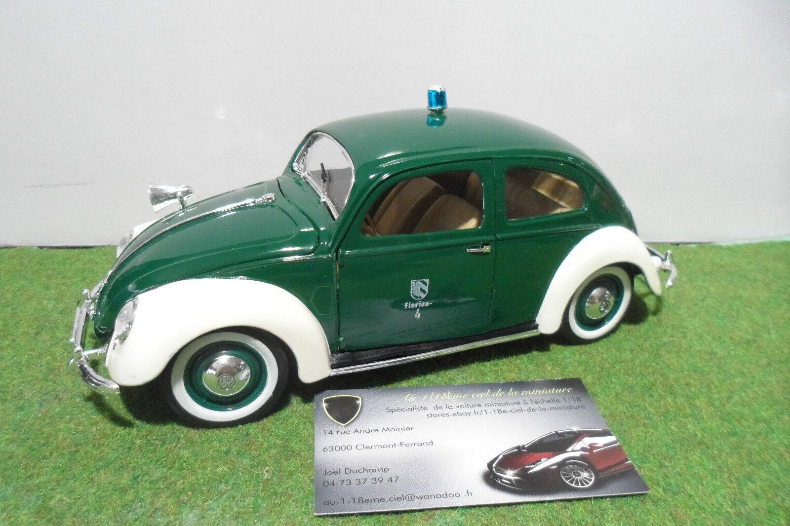 VOLKSWAGEN COCCINELLE 1951 Florian - 4 POLICE 1/18 MAISTO voiture miniature col.