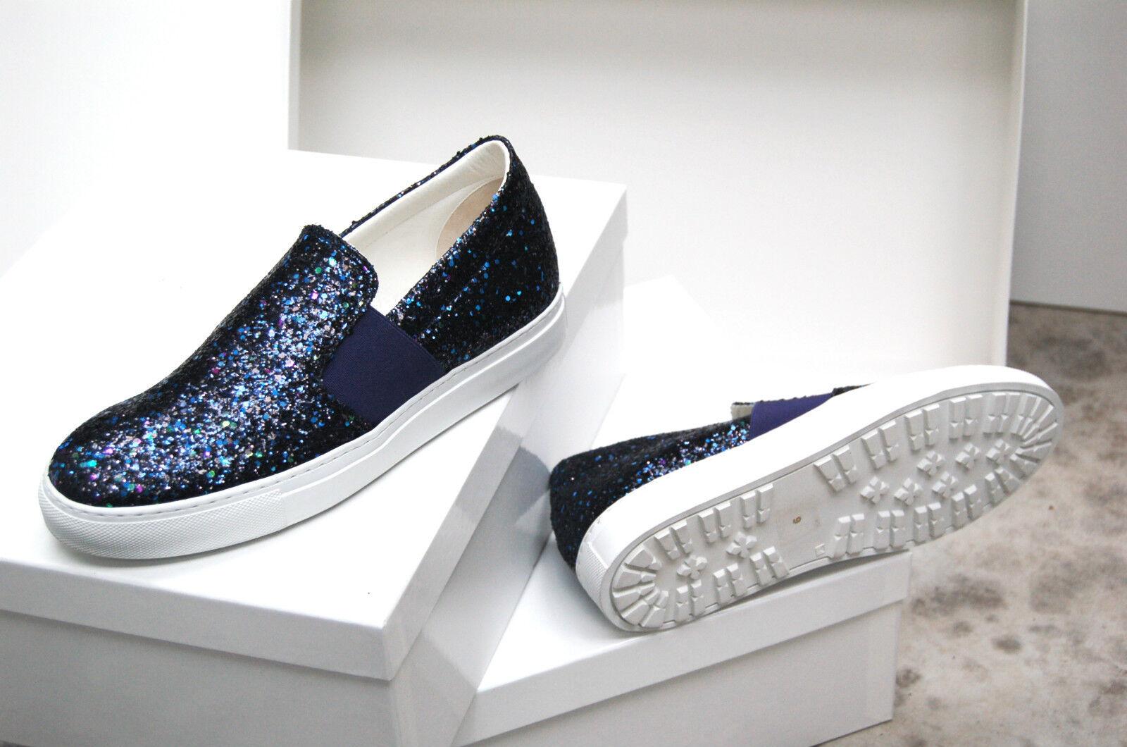 Los últimos zapatos de descuento para hombres y mujeres WOMAN - ELASTIC SLIPON SNEAKER - GLITTER COL.BLUE/BRONZE/GUN METAL - RUBBER SOLE