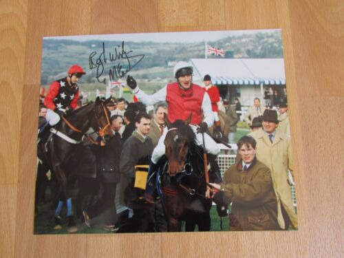 Graham McCourt Royal Gait Smurfit Cheltenham 1992 Hand Signed Horse Racing Photo