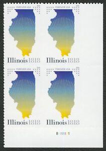 #5274 Illinois Statehood, Placa Bloque [ LR ], Nuevo Cualquier 5=