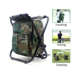 El Compact Multi Function Backpack Folding Chair Cooler