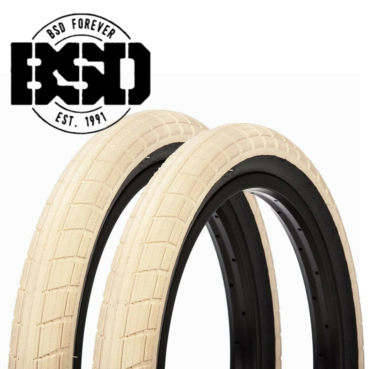 Pair of BSD womensqueak BMX Tyres 20   x 2.40  - Sand  the newest brands outlet online