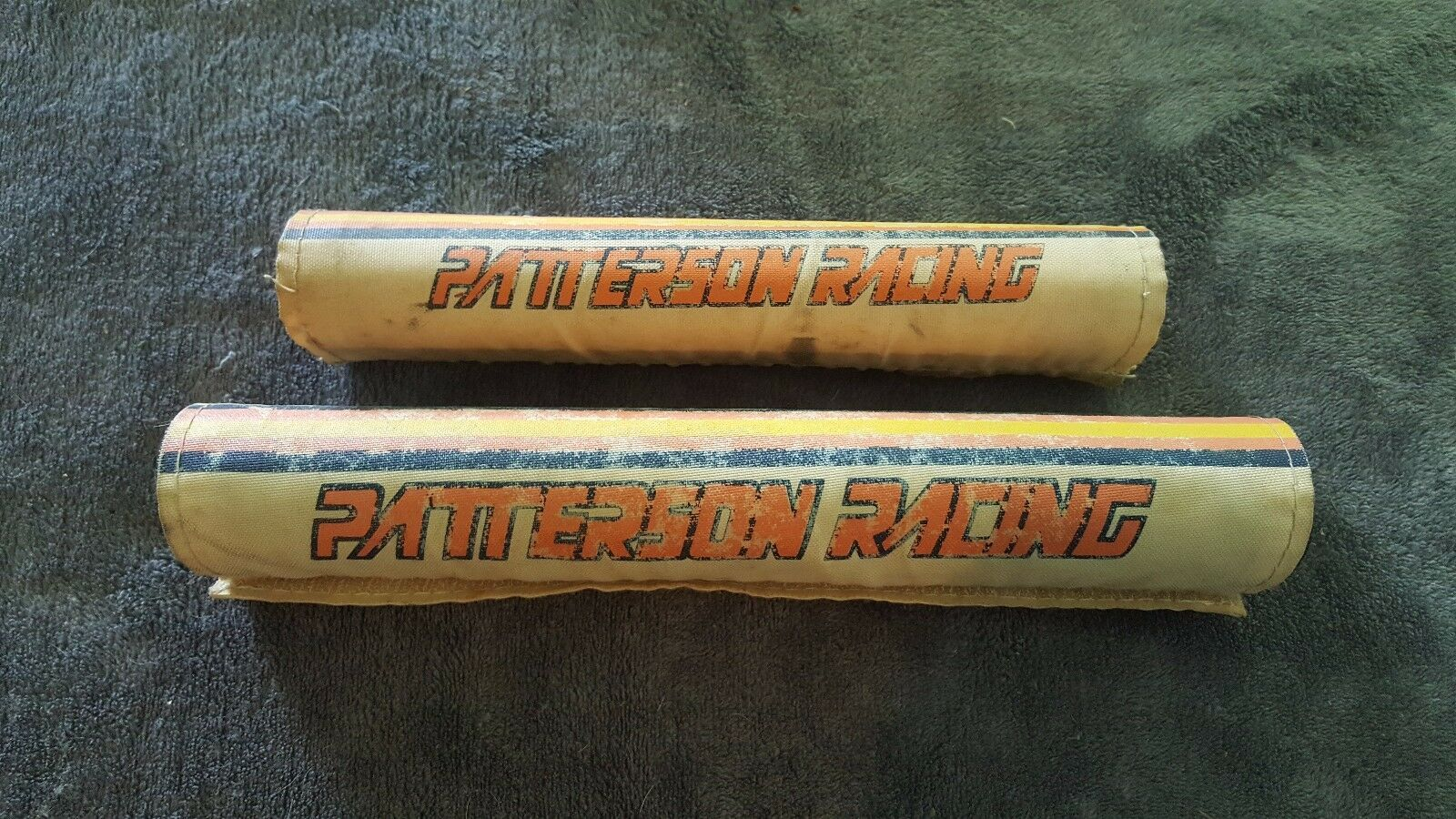 OLD SCHOOL BMX 1983 PATTERSON RACING  FRAME AND CROSS BAR PADS VINTAGE RARE