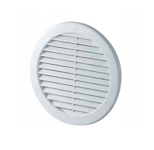 Round Air Vent Grille 100mm with Flange and Fly Screen Circle Ventilation Cover