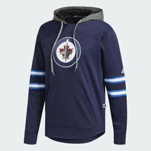 Details about adidas NHL Winnipeg Jets Platinum Jersey Hoodie Hooded Sweatshirt Men's Size S