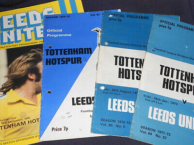 4 X Tottenham Hotspur F C V Leeds United F C Division 1 1972 1978 Ebay