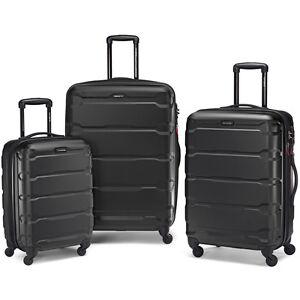 "Samsonite Omni 3 Piece Hardside Luggage Nested Spinner Set (20""/24""/28"") Black -"