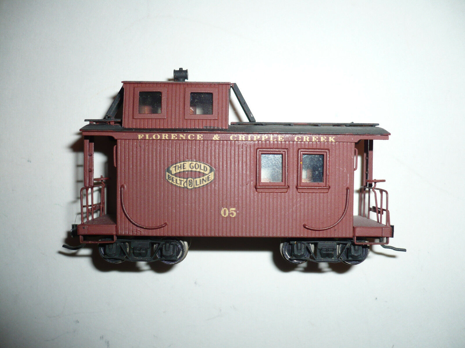 HON3 Brass Westside Florence&Cripple Creek  5 Caboose C/P.
