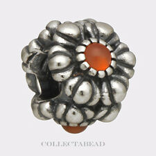 Authentic Pandora Sterling Silver July Birthday Blooms Carnelian Bead 790580CAR