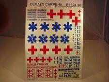 DECALS 1/24 CROIX ROUGE ET AMBULANCES PART 2 - COLORADO  2436