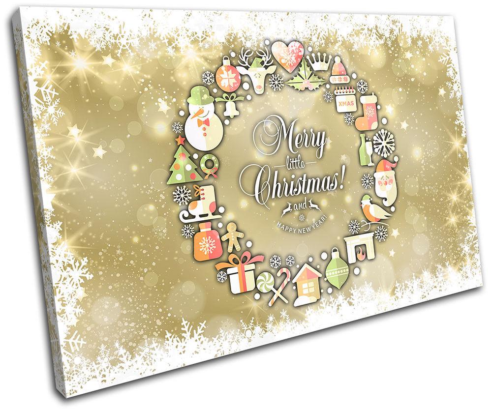 Christmas Decoration Wall Canvas ART Print XMAS Picture Gift Bokeh 13  Christmas