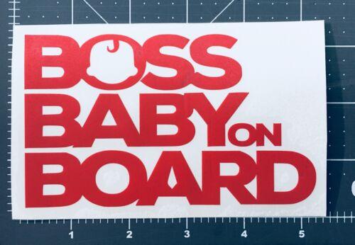 Boss Baby on Board Red car sticker