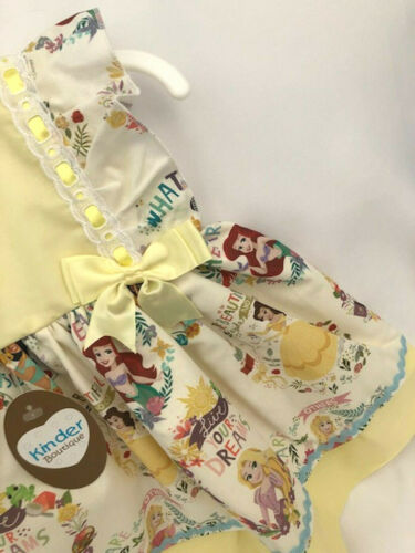 Lemon Disney Character Princess Dress Kinder Boutique from 3mth- 4 yrs