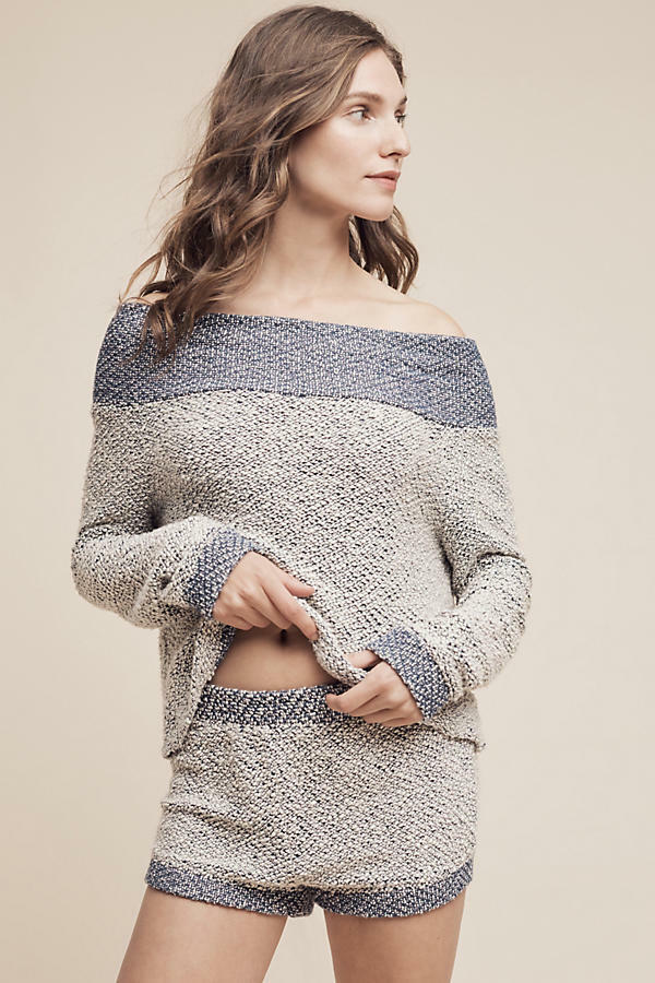 NWT Anthropologie Terry Off The Shoulder Top By Saturday Sunday Sz. X-Large