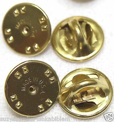 Brass clutch back clasp butterfly pin back guards USA lot of 100 pieces