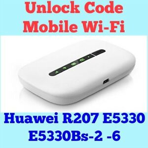 Details about Unlock Code For Huawei R207 E5331 E5330 E5330Bs-2-6 Mobile  Wi-Fi Instantly