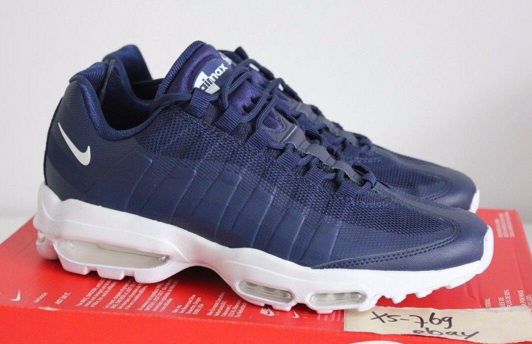 Nike Air Max 95 Ultra esencial si blancoo Azul Marino 7 7.5 Negro Uva AM95 se Qs