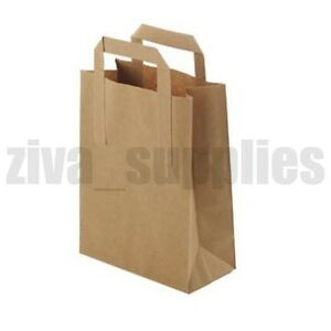 Image Is Loading Brown Paper Carrier Bags Small Takeaway