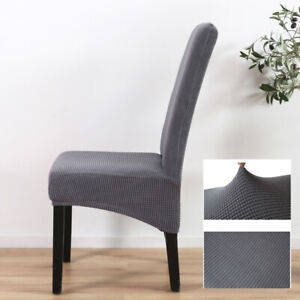 Dining Chair Covers Washable Knit Stretch Removable Chair Slipcovers High Back Ebay