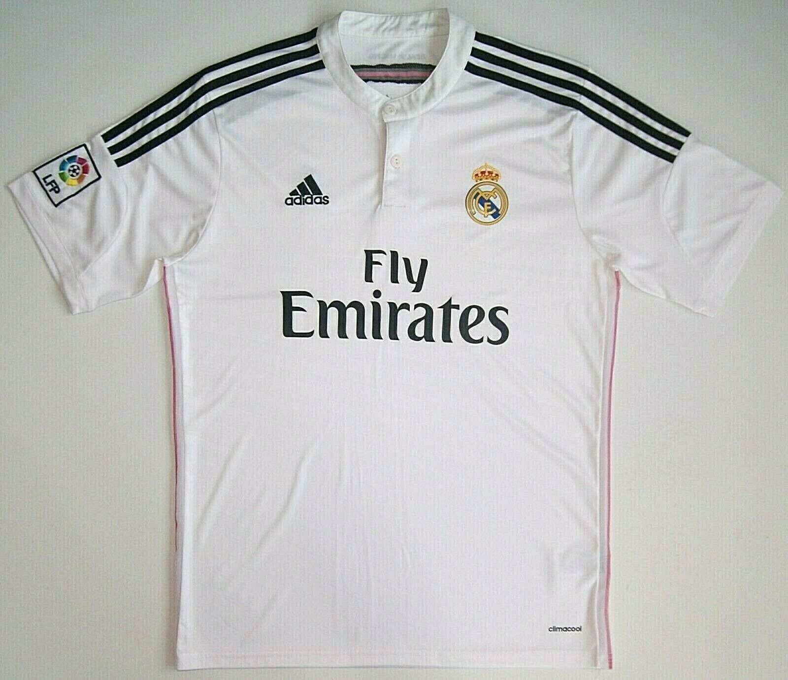 Jersey Real Madrid Adidas Climacool Fly Emirates LFP Footbal T-shirt Soccer Mens