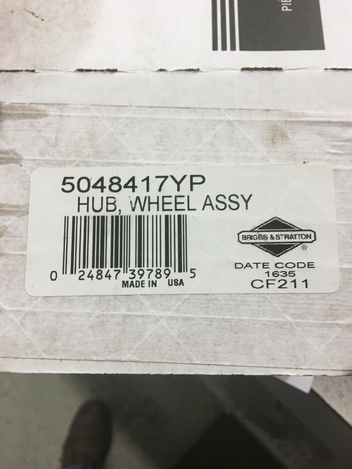 Snapper 5048417YP Wheel Hub Assembly New In Box