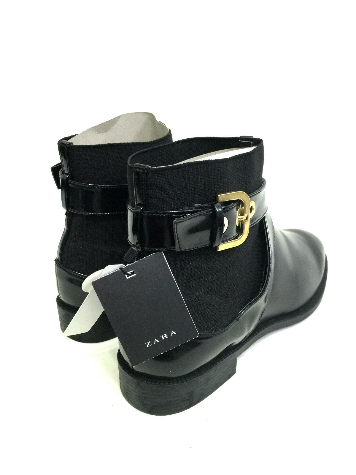 ZARA Damenschuhe WITH ANKLE Stiefel WITH Damenschuhe BUCKLE SIZE UK7/EUR40/US9 51fb4d