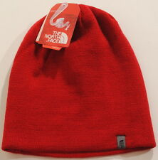 The North Face Any Grade RAGE RED Reversible Beanie Winter Hat NWT Free Ship F1A