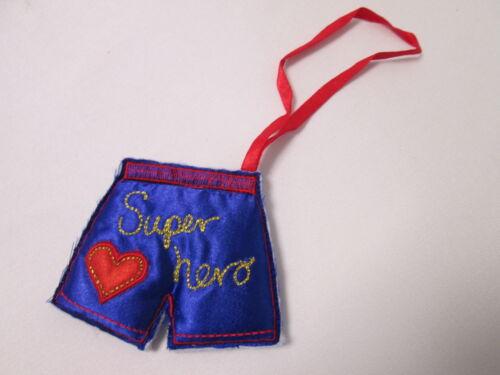 Blue Boxer Shorts Super Hero Xmas Stocking Filler Card Making Present Gift #2F15