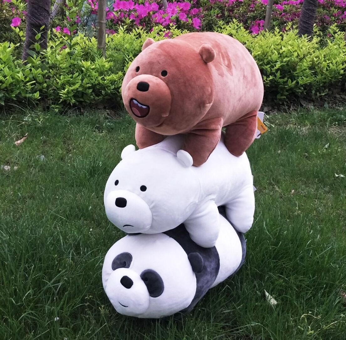 Hot 16'' We Bare Bears Plush Baby Toys Dolls Stuffed Animals Birthday Xmas Gift