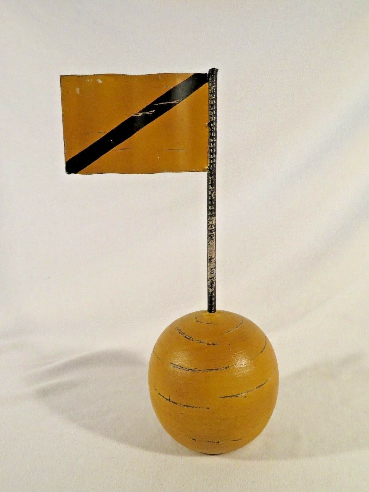 Unique Hand Made Metal & Wood Racing Last Lap Flag  Home Office Man Cave Decor