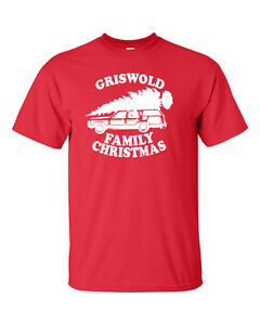 5c929c7ee NEW Griswold Family Christmas Tree on Car Roof Funny Xmas Men's Tee ...