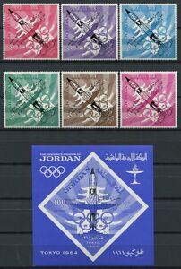 69/space Spatiale 1965 Jordanie Jordan Vol Surprise Olympics 550-55 + Bloc 28 Neuf Sans Charnière