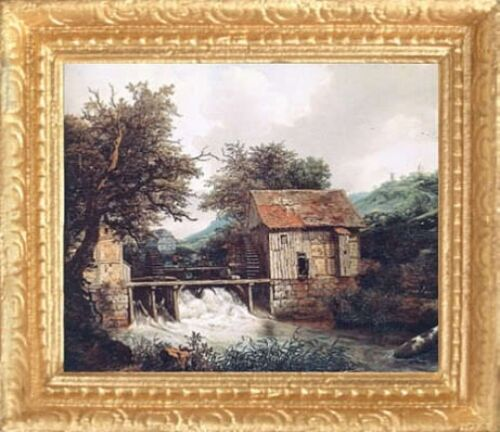 MADE IN USA OLD MILL STREAM Dollhouse Picture FAST DELIVERY Art Miniature