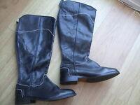 Boden Stitch Detail High Boots Size 37==4 Bnwot