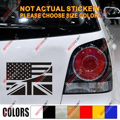 UK British Flag Union Jack Britain Car Sticker Silver Vinyl Decal 2/'/' 6/'/' 16/'/'